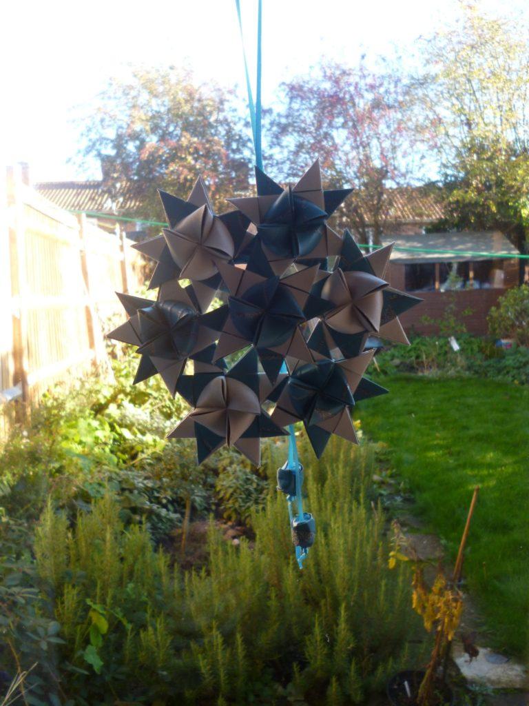 Christmas paper star wreath