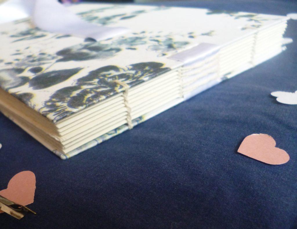 Guest book stitching