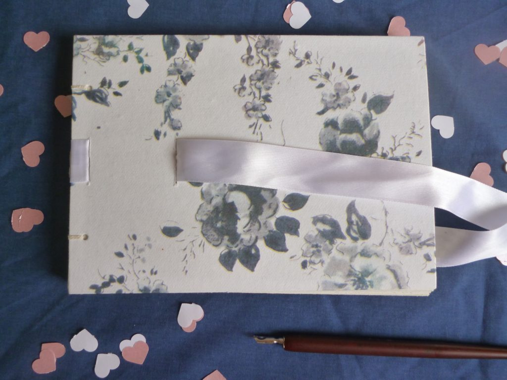 Floral ribbon guest book - £18