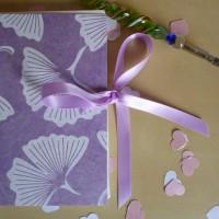 Lilac guest book ribbon