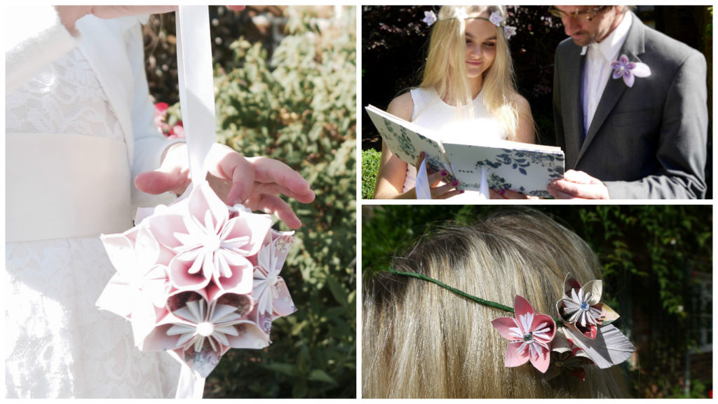 Origami wedding flowers collage 1