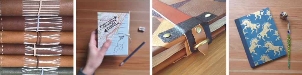 Handmade notebooks, journals and sketchbooks by The Craft Fantastic