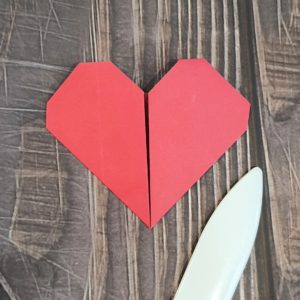 Origami heart tutorial
